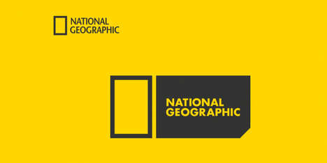 Iconic Publication Rebranding - This National Geographic Logo Concept Changes Up the Classic Image