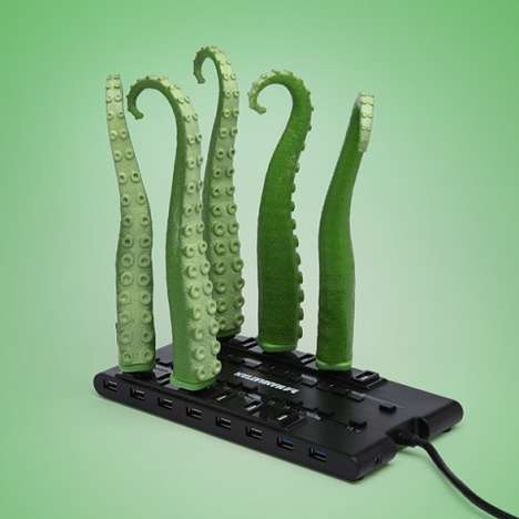 Sea Monster USB Gadgets - The USB Squirming Tentacle Pays Tribute to Monstrous Sea Creatures