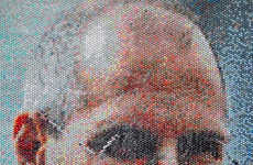 Injected Bubble Wrap Paintings