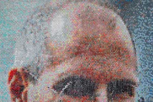 Bradley Hart Creates Portraits by Injecting Bubble Wrap with Paint