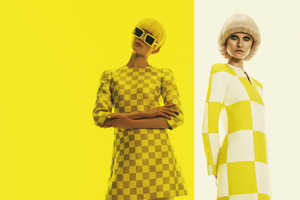 The How to Spend It A La Mod Photoshoot is Primarily Yellow