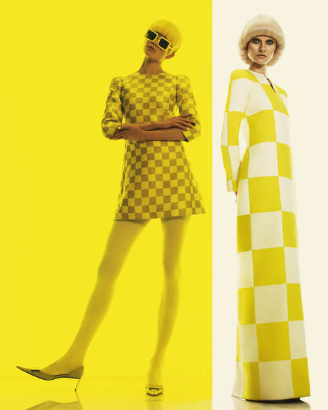 Posh Primrose Editorials - The How to Spend It A La Mod Photoshoot is Primarily Yellow