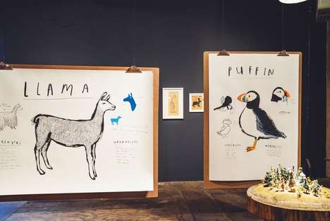 Playfully Informative Animal Exhibits - Ruff and Jeffers Appeal to a Boy's Curiosity Via Animal Art