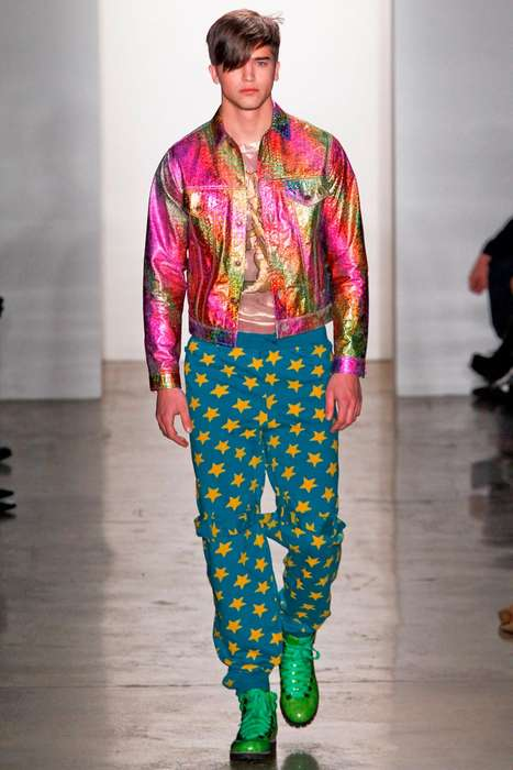 15 Rainbow Menswear Styles - Rainbow Clothing From Multi-Colored Kicks to Psychadelic Sneakers (TrendHunter.com)
