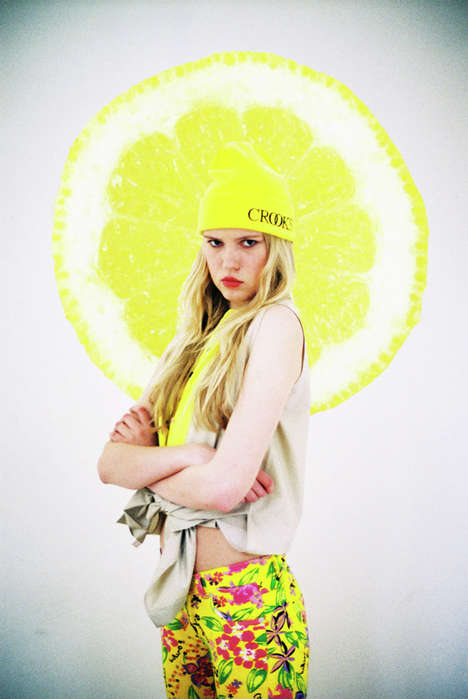 Citrus-Infused Fashion Shoots - These Alena Jascanka Photos Features the Use of Vibrant Lemons