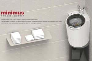 The Minimus Washing Machine Launders Small Loads Efficiently