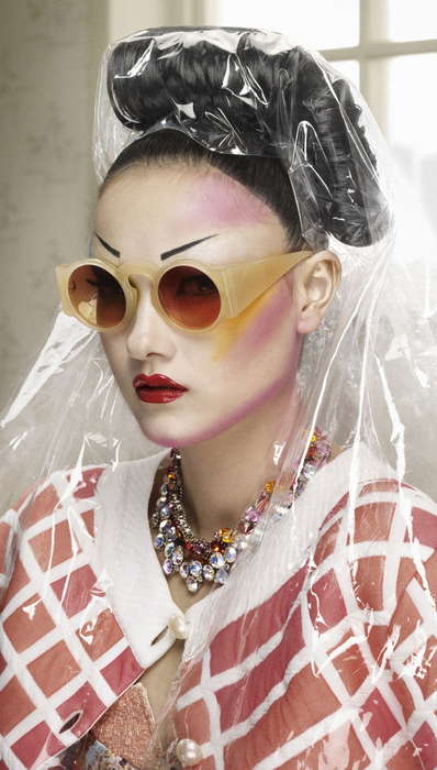 Geisha Remix Editorials - The Jalouse France Olaf Photoshoot is Offbeat