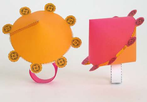 DIY Papercraft Rings - Sarah Kate Burgess' Paper Jewelry Designs are Fresh and Funky