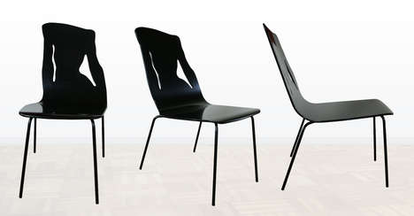 Femininely Curved Seating  - This Surrealist Chair Female Silhouette is Beautifully Minimalistic
