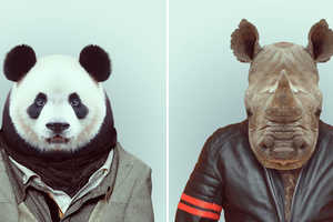 The Zoo Book by Yago Partal Displays Cute Animals in Chic Clothes