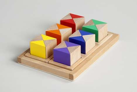 Motor Skill-Developing Tactile Toys - Brinca Dada Burgo Blocks Incorporate Touch and Sight in Play