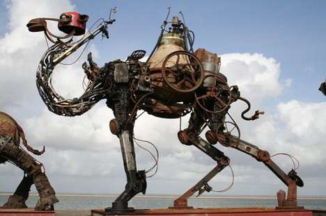 scrap metal animals