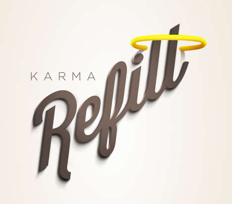 Donation-Encouraging Apps - Karma Refill is Designed to Facilitate Charitable Donations