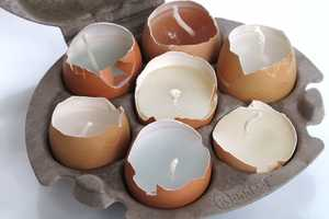Recycled Easter Egg Craft Candles are Festively Eco-Friendly