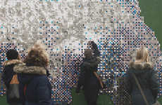 Shiny Sequined Surface Sculptures