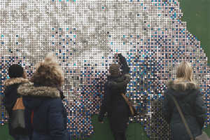 Piles by Ornduvald is Composed of Giant Glitter Art Wall Murals