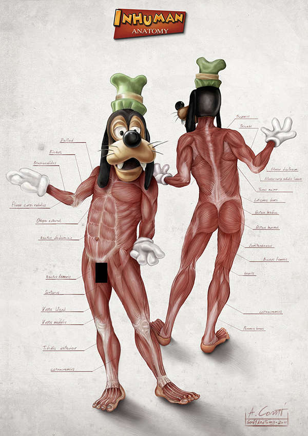 Skinless Cartoon Depictions