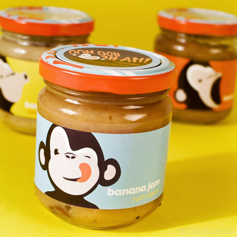 Banana Puree Jams - 'OOH OOH AH AH Banana Jams' are Gooey Great Spreads