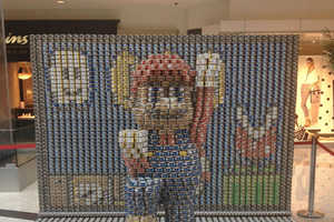 This 3D Canned Food Display Shows Super Mario Like You've Never Seen