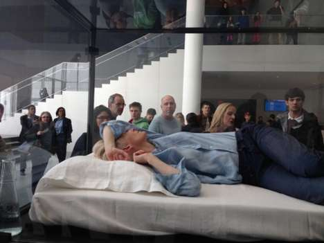 Tilda Swinton Sleeps in a Glass Box