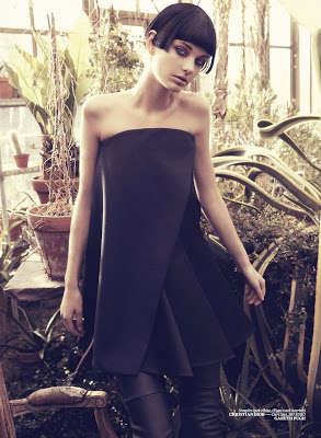 Futuristic Backyard Garden Shoots - The Vogue Turkey March 2013 Shoot is Minimalistic and Chic