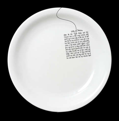Handwritten Dish Designs - These Dishoom Plates Tell the Intimate Stories of Irani Cafe Customers