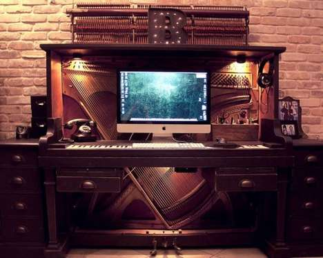 Upcycled Instrument Workstations - Sarah Dodd's Piano Desk Gets a Second Chance at Life