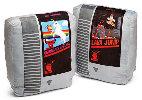 Retro NES Cartridge Pillow Set