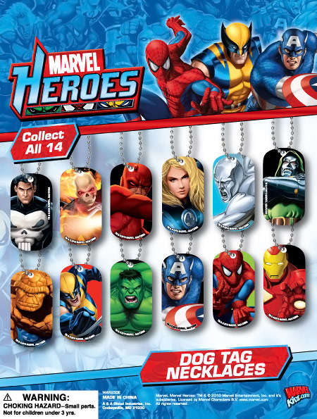 Heroic Identification Necklaces - Marvel Heroes Dog Tag Necklaces Are Modern and Collectable