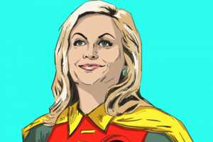 Parks and Recreation Portray Superheroes in This Vicky Trochez Work