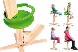 The Wooden Froc Chair Expands as Children Get Older