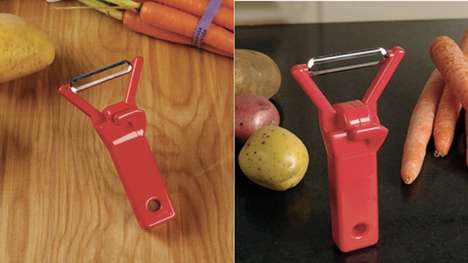 The Rockin' Veggie Peeler Takes from Classic Pop Culture References