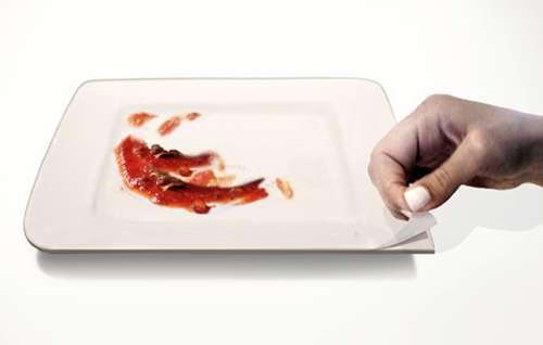Peelable Dinner Plates