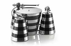 Zebra-Striped Turntables