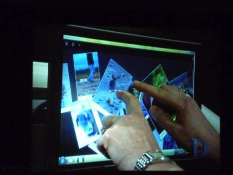 Windows 7 Demo - Gates Reveals Multi-Touch OS Integration