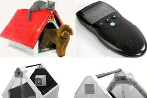 Cool Pet House Has Remote Control, Webcam