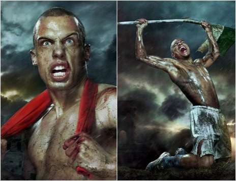 Spartan Soccer Warriors - 300 Dutch Football Team Ads by Erwin Olaf