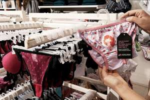 Children's Underwear in Lingerie Section