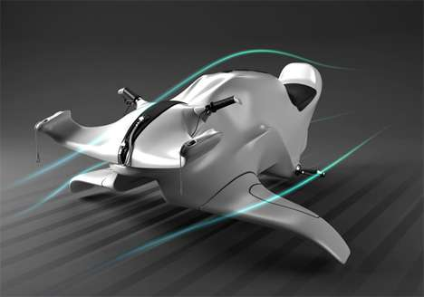 Submersible Jetski - The Nereus Dives and Carves Through the Wind