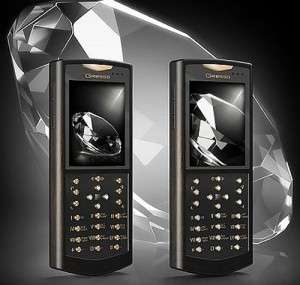 $14,000 African Blackwood Cell Phones - Gresso White Diamonds Mobile