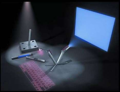 Projected Monitors - Computers in Pens