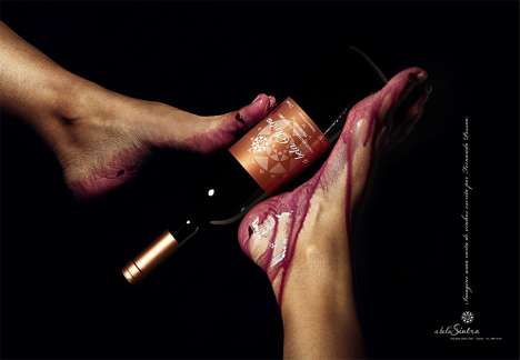 Footvertising Wine