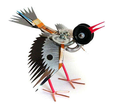 Animals Made of Recycled Electronics
