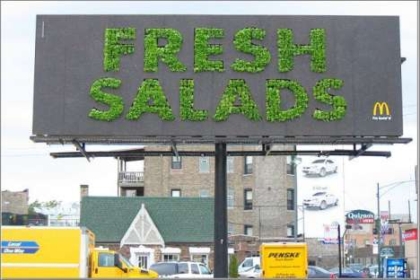 Billboards Made of Lettuce - McDonald's Growing Fresh Salads Ad