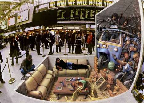 3D Illusion Chalk Drawings II - The Work of Kurt Wenner