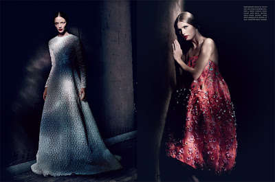 Shy Baroque Photoshoots - The Vogue Italia Couture Allure Editorial Echoes Decades Past