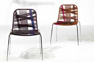 Frag Tartan Chairs Mimic the Look of Checkered Fabric with Woven Cords