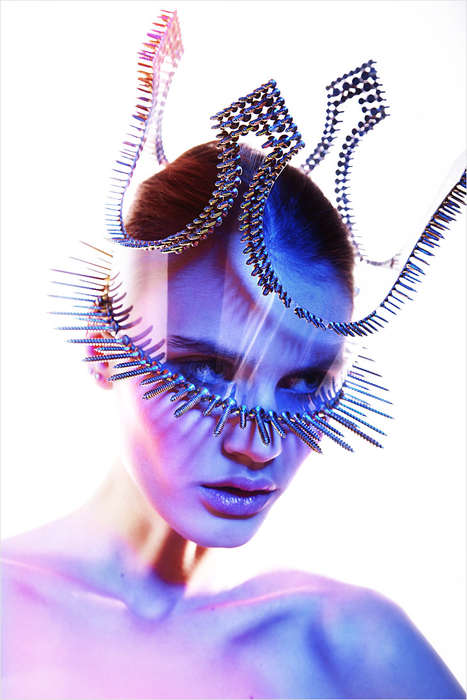 Futuristic Monarchy Captures - The No Title Lounge Editorial Displays Sci-Fi Inspired Styles