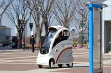 Autonomous Sidewalk Vehicles - This Compact Vechicle by Hitachi is a Great Alternative to Walking