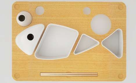 Sushi to Go Plate Set